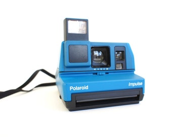 Rare Bright Blue Polaroid Camera Impulse 600 - Film Tested Working