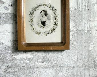 Vintage Victorian Lady Framed Print