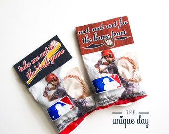 Instant Download, Baseball Treat Bag Toppers, Printable Baseball Candy Toppers, Baseball Gift Bag Toppers // BAS-11