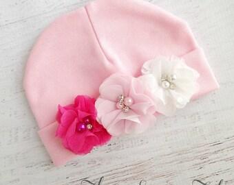 Pink Baby Hat, Newborn Baby Hat