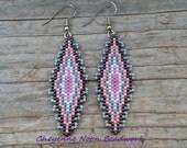 Native American Beaded Earrings - Southwestern Rug #2