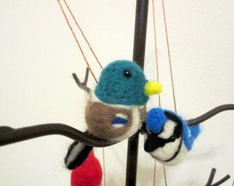 Felted Duck Ornament - Mallard Christmas Ornament - Needle Felted Animal