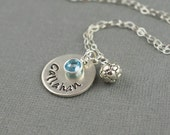 Soccer Mom Personalized Hand Stamped Sterling Silver Necklace