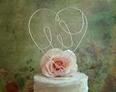 Personalized INITIAL Wedding Cake Topper - Monogram Shabby Chic Cake Topper, Weddings Cake Topper Decoration, Rustic Initial Cake Topper