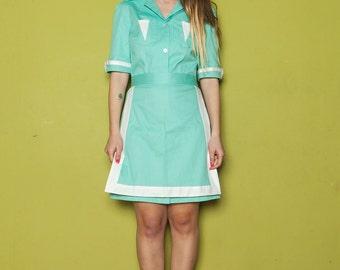 Twin Peaks Double R waitress dress, shelly johnson Uniform diner dress