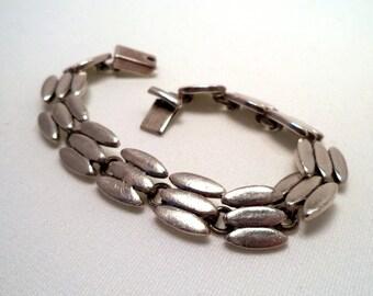 Vintage Heavy Sterling Link Bracelet MEXICO 925