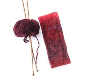 Cable Headband Knitting Pattern, Digital PDF file , Instant download ,Winter head warmer , head band, handknit tutorial , fall accessories