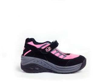 90's Pink Sporty Spice Sugar Wave Wedge Chunky Sneakers // 7
