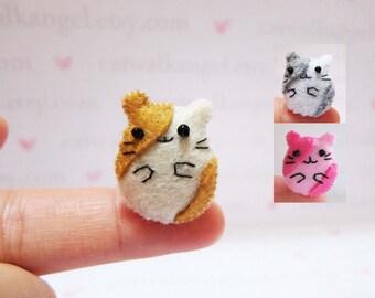 Felt Miniature - Felted Miniature Hamster - Felted Hamster - brown Hamster - Hamster miniature - tiny Hamster - felted brown Hamster