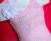 Flower Girl Script Rhinestone Tank Top, Flower Girl Tee, Flower Girl Bling shirt, Flower Girl Bling Tank, Flower Girl Rhinestone Tank Top,