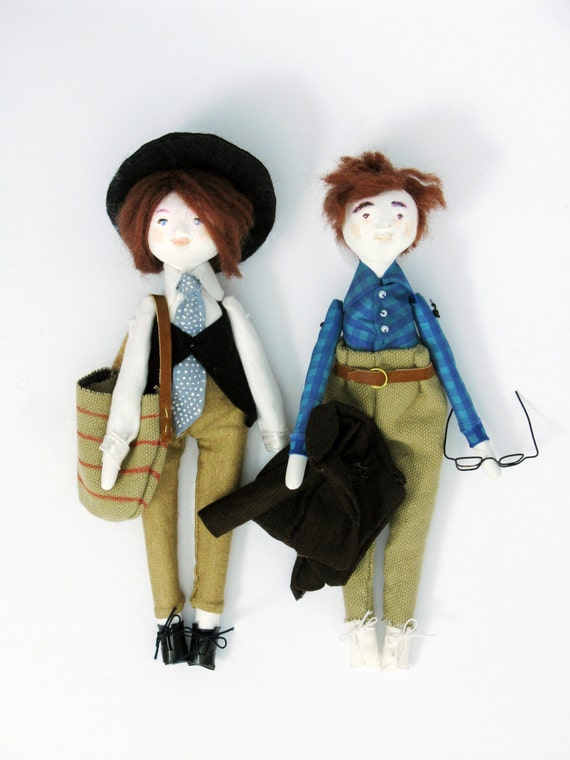 Annie and Alvy Art Dolls // Woody Allen // Annie Hall // Cinema Icons Serie