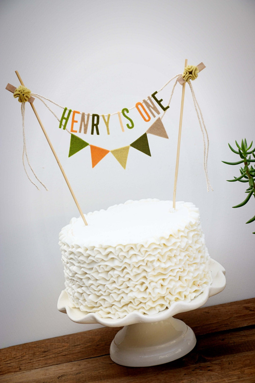 Personalized Cake Banner Personalized Cake Topper Birthday