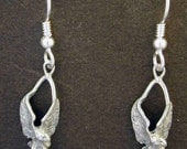 Sterling Silver Eagle Earrings on Heavy Sterling Silver French Wires