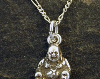 Sterling Silver Budha Pendant on Sterling Silver Chain.
