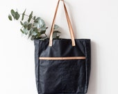 Large Waxed Canvas Tote bag No.TW- 121