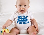 Ford Inspired Built Tough Custom Onesie, featuring your last name