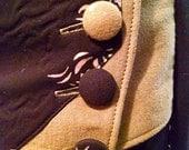 CUSTOM Maxi Length Black Rayon Dress with Obi Style Belt