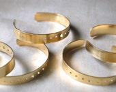 Brass Orbit Cuff - Modern Brass Cuff
