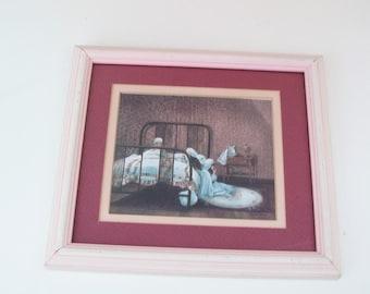 Framed girl praying print three sisters art glynda turley for Glynda turley painting