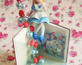 Alice in Wonderland Painting the Roses Red Necklace
