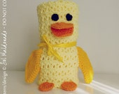 duck baby blankie pdf crochet pattern - duck amigurumi toy and blanket - newborn baby shower nursery gift blanket -  Instant DOWNLOAD