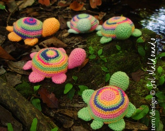 Turtle amigurumi crochet PDF pattern - Toy, baby mobile, pincushion -  Instant DOWNLOAD