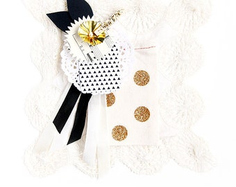 Gold Glitter Polka Dot Favor/Gift Cloth Bags  - Available in Three sizes Small/Medium/Large