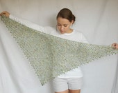 Variegated Green Lace Shawl