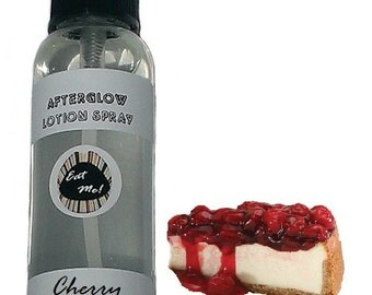 Afterglow™ Lotion Spray - Cherry Cheesecake Natural Vegan Skin Care Scented Body Moisturizing with Aloe by Eat Me