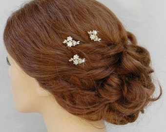 Gold Bridal Hair Pins, Gold Wedding Hair clip, Vintage style hairpins, Swarovski crystal hair comb, Rhinestone, Piper Hair Pins