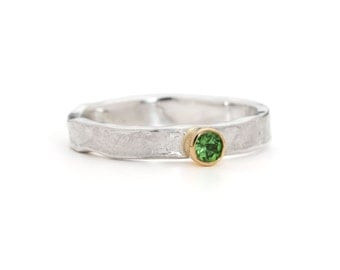 Mini Tsavorite Storybook Ring