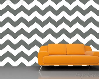 Chevron Wallpaper 01- Baby Boys Nursery ZigZag Wallpapers Removable Fabric Seamless Wall Decals Modern Office Custom Wall Mural prt0023-b