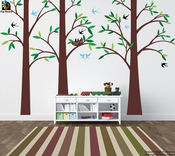 tree wall decals playroom vinyl wall decors office removable