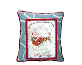 Custom pillow, personalized child's Christmas pillow, personalized Christmas ornament, Santa pillow, Rudolf pillow, reindeer