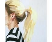 """8x10"""" hair print - """"Ponytail 4"""""""