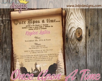 once upon a time baby shower | etsy, Baby shower invitations