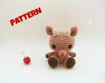 Reindeer Pattern / Christmas Patterns / Christmas Crochet Pattern / Amigurumi Pattern / Crochet Pattern / Crochet Deer Pattern / Animal Toys