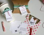 PRINTABLE - set of 10 DIY printable handrawn black and white gift tags
