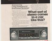 1979 Advertisement Craig Stereos DeLorean 70s  Car Audio Sports Car Prototype Garage Shop Dealership Studio Wall Art Decor