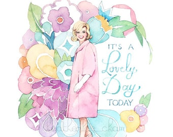 Doris Day Art - Watercolor Painting Print