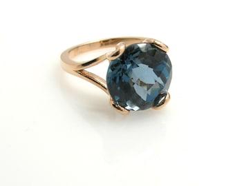 London Blue Topaz Ring .