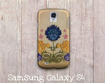 European folk art Samsung Galaxy case, Wycinanki Inspired Samsung Galaxy s3 and Samsung Galaxy s4, Polish Folk Flowers samsung galaxy cover