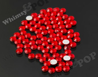 SS16 - 1 Gross/ 144 pieces Red Glass Rhinestones, SS16 No Hot Fix Flatbacks, 4mm Rhinestones, High Quality Glass Rhinestones (R4-110)