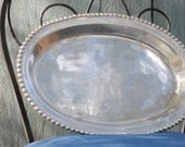 Aluminum Dotted Edge Oval Tray
