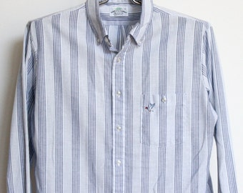 Raintree Southern Striped Shirt Mens Extra Large Mallard Duck Made In USA XL Pinstriped Hampton