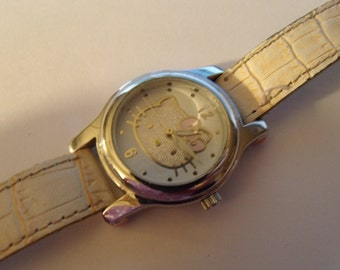 Ladies Watch Hello Kitty Pink Silver Tone