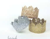 READY to SHIP || Paige || vintage lace crown headband|| gold silver rose gold || newborn or 1st birthday || FIRMEST crowns || cake topper