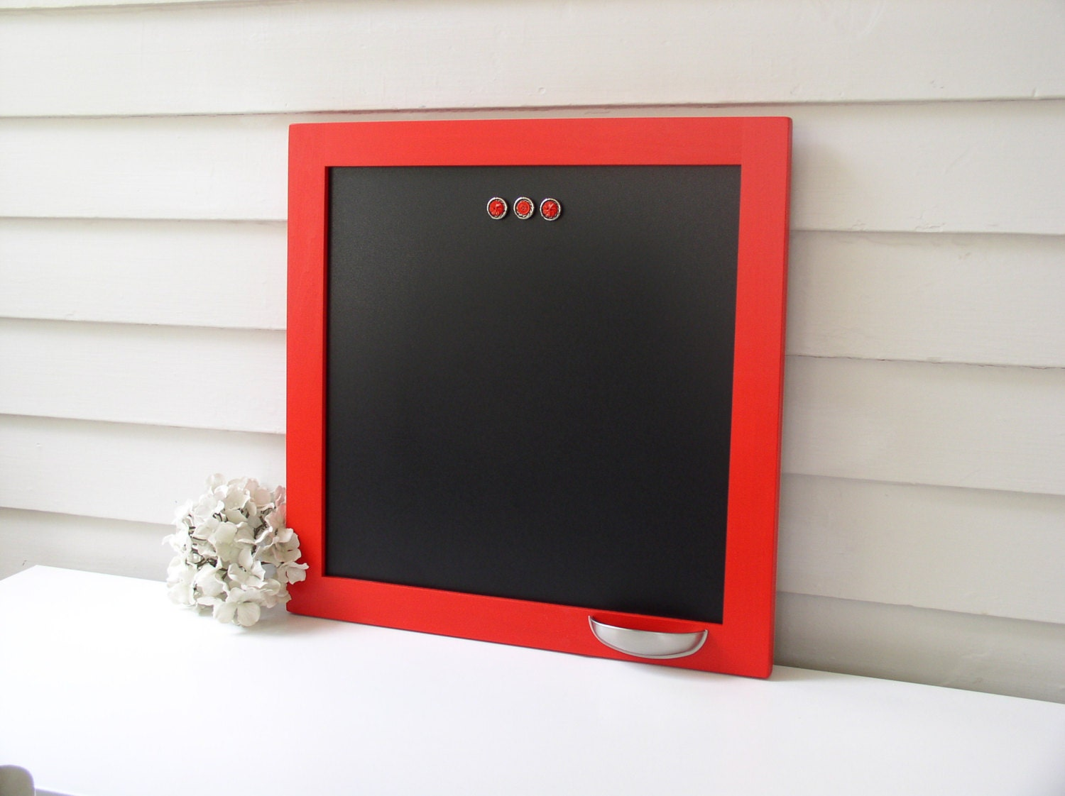 modern framed magnetic chalkboard solid wood frame memo board. Black Bedroom Furniture Sets. Home Design Ideas