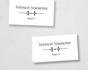 Printable Place Card Template - INSTANT DOWNLOAD - Escort Card - For Word and Pages - Mac and PC - Flat or Folded