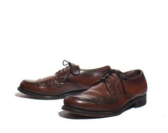 7.5 D | VTG Brown Leather Men's Oxfords Dress Shoes